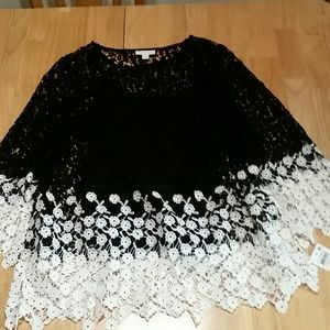 NWT Charter Club Crocheted Blouse